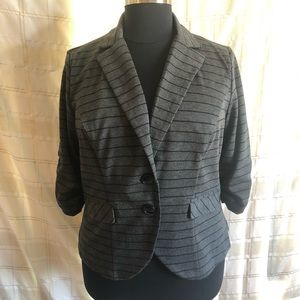 Torrid Women's Buttoned Stripe Blazer, Size 2X